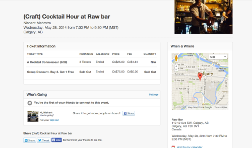 _Craft__Cocktail_Hour_at_Raw_bar_Tickets__Calgary_-_Eventbrite